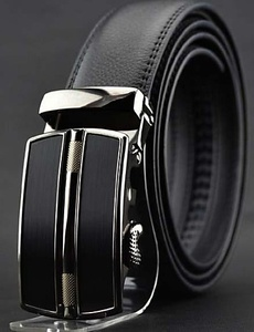 Men's Solid Leather High Grade Automatic Buckle Belt