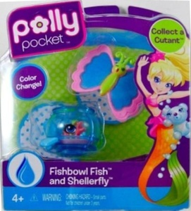 Polly Pocket Cutant Fishbowl Fish and Shellerfly by Polly Pocket