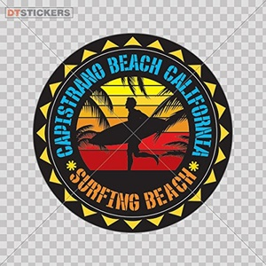 Decal Vinyl California Souvenir Surf Surfing Wall Art Dec Car window jet ski travel banner beautiful maui RK652