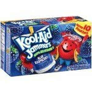 Kool-Aid Blue Raspberry Jammers, 10-Count, 6-Ounce Pouches (Pack of 4) by Kool-Aid
