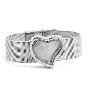 LuckyJewelry Heart Floating Charm Locket Sale Glass Circle Magnetic Bracelet For Girl Women