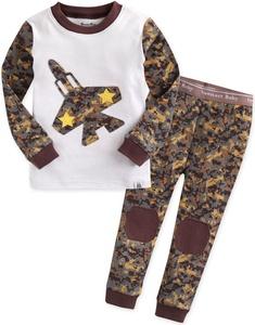 Vaenait Baby 12M-7T Kids Boys Sleepwear Pajama 2pcs Set Jet Star M