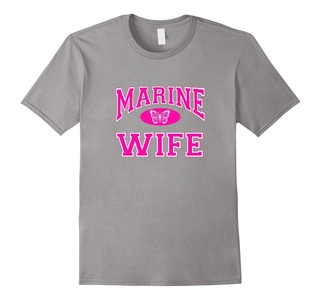 Men's Marine (Corps) (USMC) Wife Butterfly T-shirt Large Slate