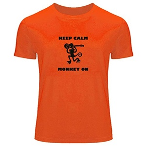 Keep Calm Monkey on Printed For Men's T-shirt Tee Outlet