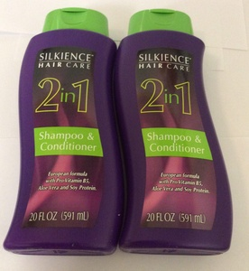 2pck - Silkience 2 in 1 shampoo and conditioner 20 fl. oz.