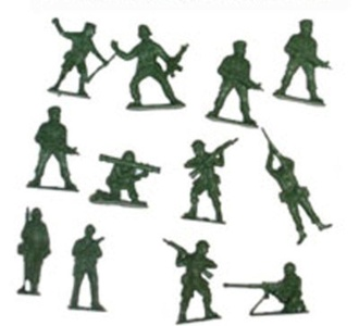 Plastic Army Soldier - Pack of 50 by Partyrama