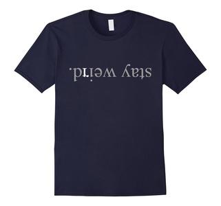Men's Stay Weird T-Shirt XL Navy