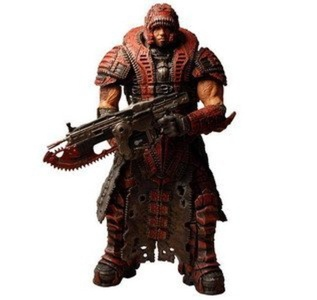 Gears of War 2 NECA Series 4 Dominic Santiago Theron Disguise Figure by Gears of War