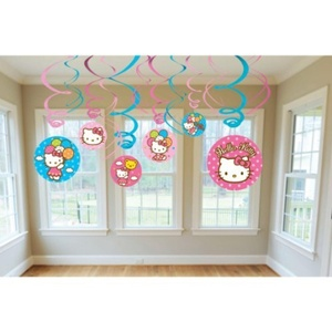 Hello Kitty Swirl Decorations by Napkins