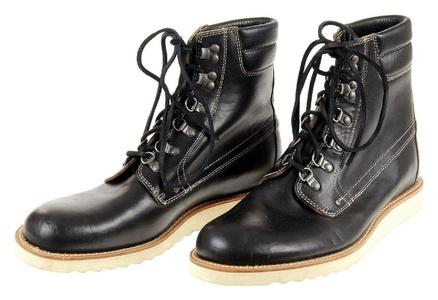 J Crew Wallace & Barnes Plain-Toe Byrd Boots Style# E3785 Black New Size 8.5