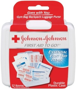 Johnson & Johnson Red Cross First Aid-to-Go Mini First Aid Kit 12 item (Pack of 48) by Johnson & Johnson Red Cross