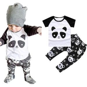 Efaster® 1Set Baby Toddler Clothes Boy Panda Shirt + Pants Kids Sets Outfit
