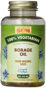 100% Vegetarian Borage Oil, 60 Veggie Softgels by Health From The Sun