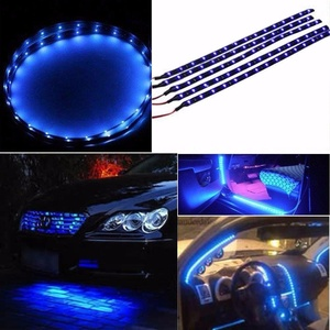 YITA- 10x 12V 15-LED 30CM Blue SMD Waterproof Car Motor Flexible Light Strip Bar