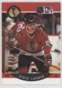 Steve Larmer (Hockey Card) 1990-91 Pro Set - [Base] #53.2