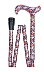 Classic Canes Fashionable Height Adjustable Folding Walking Stick - Union Flag Cane by Classic Canes