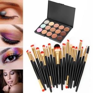 Mostsola 15 Colors Concealer Palette with 20 Pcs Cosmetic Makeup Brush Set