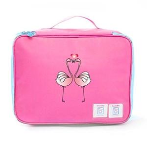 Aoapp Cartoon Flamingo Red Bird Heart Oxford Portable Storage Bags Travelling Cosmetics Organize Bag