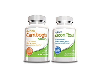 Cleanse Weight Loss Kit-Garcinia Cambogia 180 Capsules & Yacon Cleanse Pill,60 Capsules, Best Cleanse for Weight Loss (Value Size) by Cleanse Weight Loss Kit