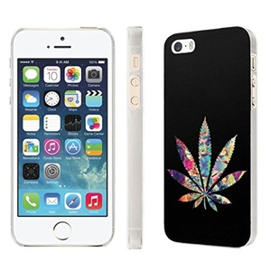 iPhone [SE/5/5S] Phone Case [NakedShield] [Clear] Ultra-Slim Jacket Cover Case - [Color Weed] for iPhone [SE/5/5S]