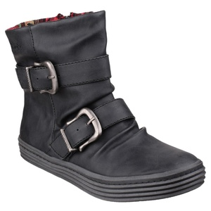 Blowfish Womens/Ladies Octave Texas Double Buckle Ankle Boot (5 US) (Black)