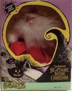 Tim Burton's Nightmare Before Christmas Santa Poseable Hand Puppet by Walt Disney Company Nightmare Before Christmas
