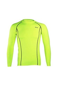 ARSUXEO Cycling Sports Running Fitness Bike Bicycle Baselayer Underwear Long Sleeve Jersey Quick Dry Shirt Men Green M by ARSUXEO