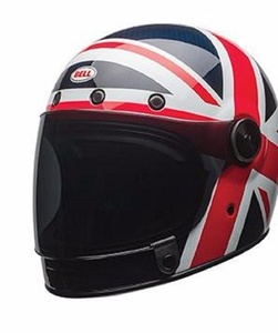 Bell Bullitt Carbon Spitfire Blue Red Motorcycle Helmet Size Large