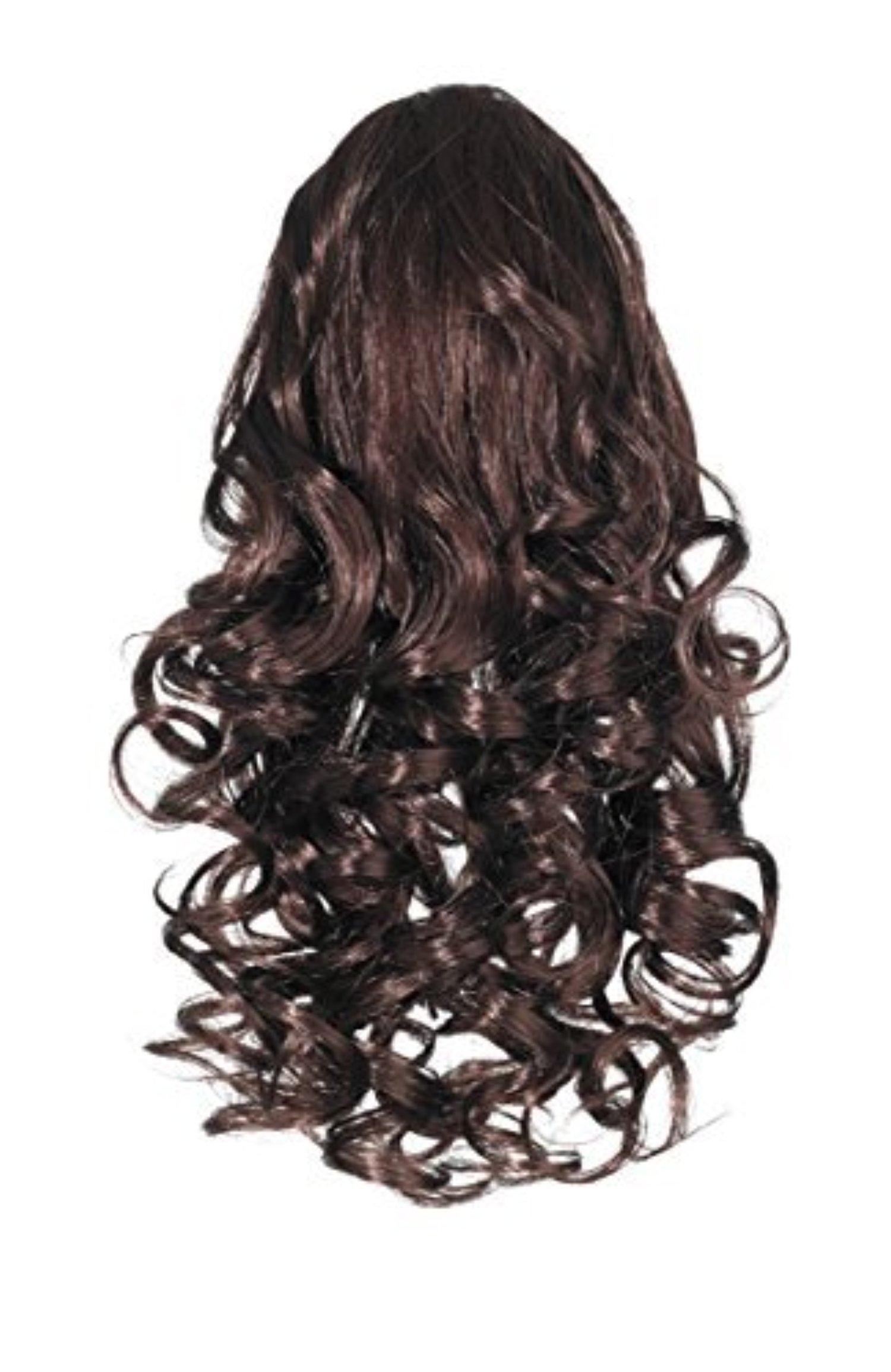 Love Hair Extensions Curly Crocodile Clip Synthetic Hair Ponytail Colour 2 Dark Brown 12 -Inch by Love Hair Extensions