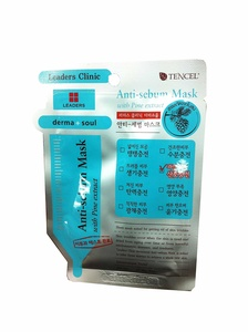4 Mask sheets of Leaders Clinic, Anti-sebum Mask with Pine Extract.