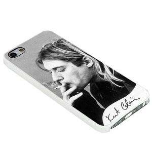 Kurt Cobain Smoking Black and White for iPhone Case (iPhone 5/5s white)