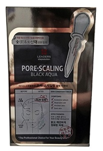 Leaders Pore-Scaling Black Aqua Masks Individual Facial Face Skin Care 10 Sheets by Leaders