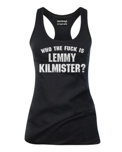 Aesop Originals Women's Who The Fuck Is Lemmy Kilmister? Tank Top L Black