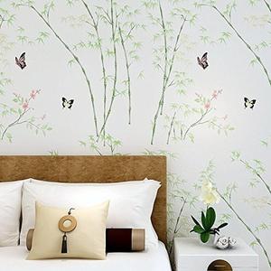 CCWY Non-woven cloth wallpaper Korea idyllic 3D wallpaper living room background paper bedroom wallpaper Wallpaper