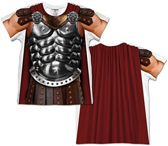 Toddler: Gladiator Costume Tee (Front/Back) Baby T-Shirt Size 4T by Faux Real