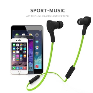 WEKSI Wireless Bluetooth 4.1 Headphones, Sweatproof Running Earbuds Earphones with Hands-free Calling and Microphone, for iPhone 6 6plus 5s 4s Galaxy S6 S5 and ios Android Smartphones (Green)