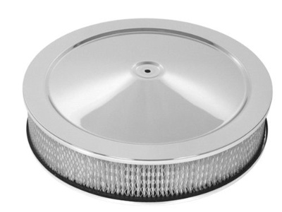 CFR Performance Chevy/Ford/Mopar 14 Chrome Steel Air Cleaner Set - Hi-Lip Base by CFR Performance - Air Cleaner Sets