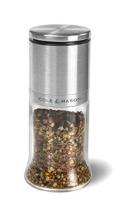 Cole & Mason Herb and Spice Grinder, Glass Spice Jar by Cole & Mason