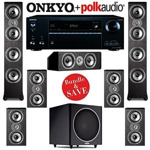 Polk Audio TSi 500 7.1 Home Theater System with Onkyo TX-NR656 7.2-Ch Network AV Receiver