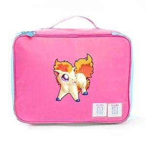 Aoapp Japanese Anime Pokemon Ponyta Oxford Portable Storage Bags Travelling Cosmetics Organize Bag