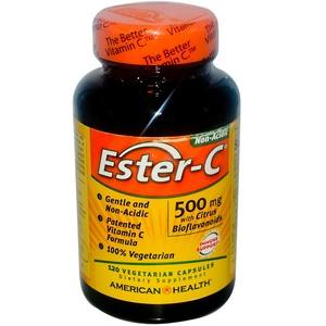 American Health, Ester-C, 500 mg, 120 Veggie Caps