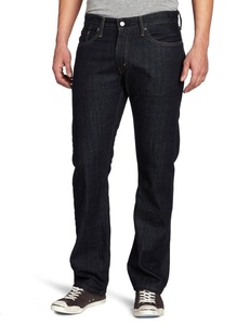 Men's MJ411 Slim Fit Straight Leg Denim Jeans - Black - 38X30