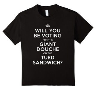 Kids Voting for Giant Douche or Turd Sandwich Shirt 6 Black