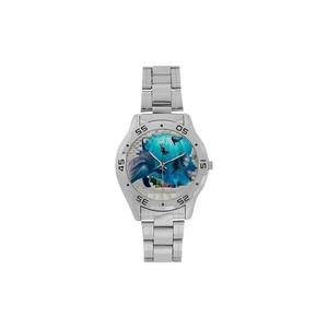 Hot Sale Dolphin Art Design Woman Men's Stainless Steel Analog Watch,Watch Face Diameter: 1.5