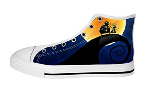 Women's High Top Full Canvas Upper Shoes Soft Inner Nightmare Before Christmas Design
