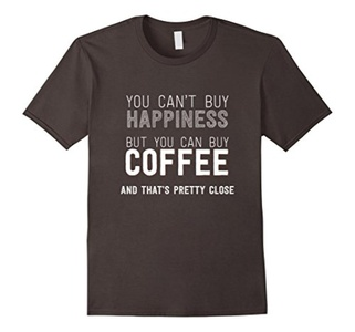 Men's You Can't Buy Happiness But Can Buy Coffee Funny Shirt 3XL Asphalt