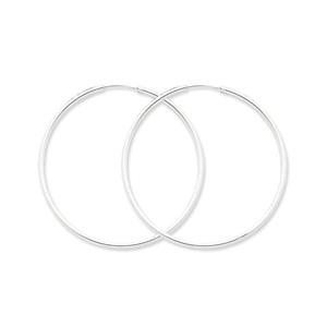 .925 Sterling Silver 55 MM Classic Endless Hoop Earrings