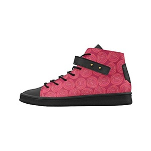 Shoes No.1 Women's Sneakers Lyra Round Toe High-top Shoes Mackintosh Roses Tile Pattern For Outdoor