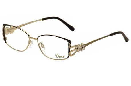 Diva Women's Eyeglasses 5437 866 Gold/Black/Crystal Full Rim Optical Frame 53mm
