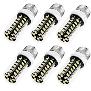YouOKLight 6PCS High Luminous E27 E12 110V 42SMD5733 LED Corn Bulb 5W Spotlight LED Lamp Candle Light ( Connector : E26/E27 , Light Source Color : Warm White )